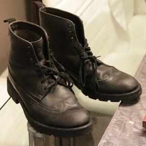 "Base London Dark Grey Leather Boots ""Valiant"" EU42"